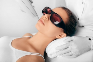 Laser hair removal - treatment area facial